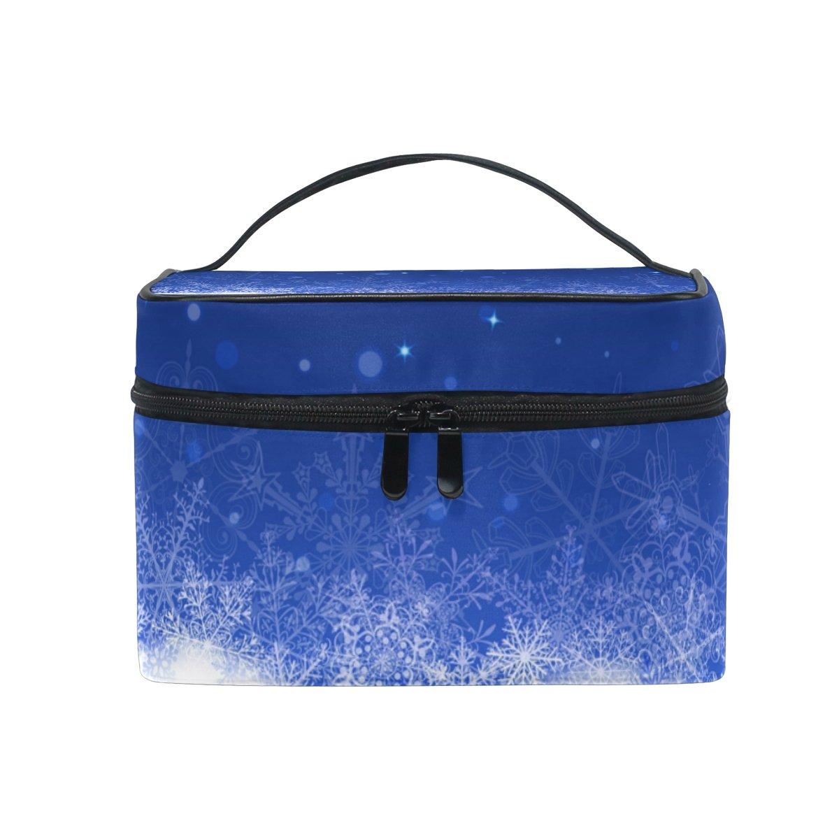 ALAZA Sac cosmétique flocon de neige Makeup Case Voyage Organisateur de stockage