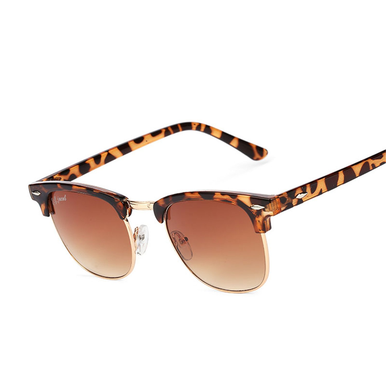 women Men sunglasses designer Classic UV400 Mirror Lady Sun Glasses Male Female L rayed Small Size Hot Half Frame Pink
