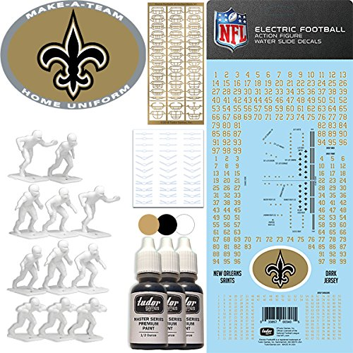 NFL New Orleans Saints NFL Home Uniform Make-A-Team Kit for Electric Football ()