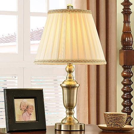 LHP Estudio americano dormitorio país lámpara de mesa lámpara de ...