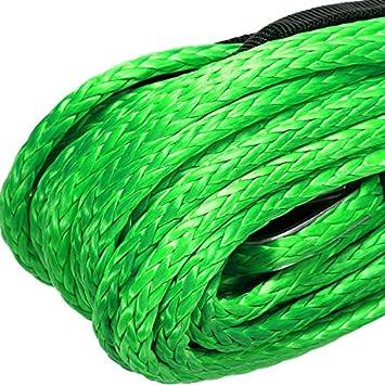 Gaine de 5 500 LB pour ATV Utv 5 Mm X 15 M Synth/éTique Bleu Semoic Corde de Cable de Treuil en Fibre Synth/éTique de 3//16 Po X 50 Po