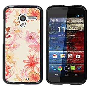 Be Good Phone Accessory // Dura Cáscara cubierta Protectora Caso Carcasa Funda de Protección para Motorola Moto X 1 1st GEN I XT1058 XT1053 XT1052 XT1056 XT1060 XT1055 // Watercolor