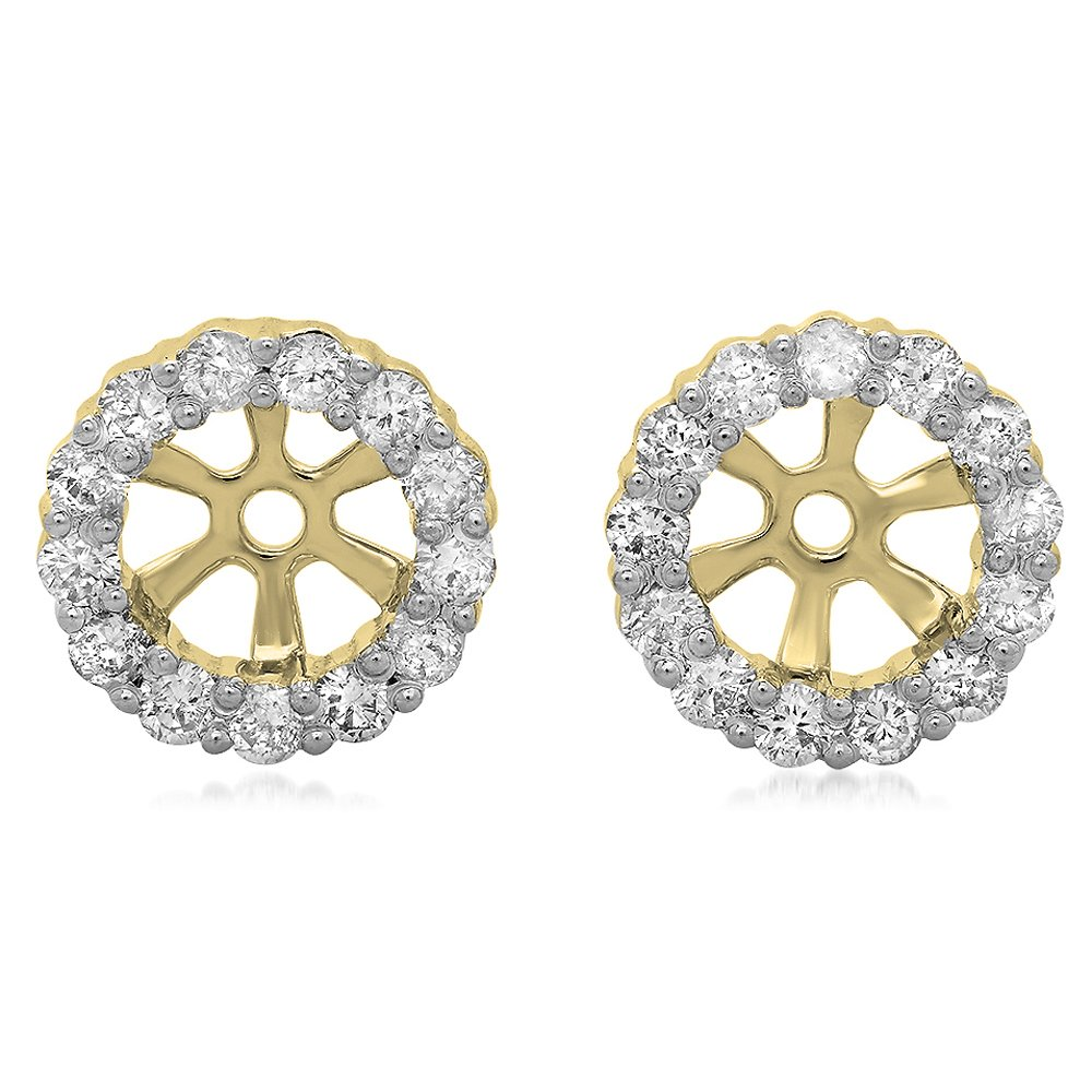 Dazzlingrock Collection 0.30 Carat (ctw) 14K Round Diamond Removable Jackets for Stud Earrings 1/3 CT, Yellow Gold