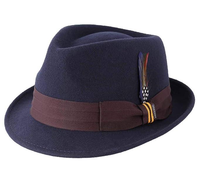 Stetson - Sombrero Trilby Fieltro de Lana Hombre Coeman  Amazon.es  Ropa y  accesorios 6cca674e00a