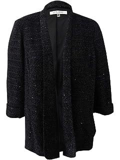 Levine Womens Plus Size Black Laser Cut Crepe Pant Suit with Zipper Front Tahari ASL Womens Sportswear 7260L925 Tahari by Arthur S