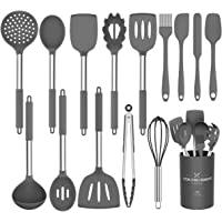 Umite Chef Kitchen Utensils Set, 15 pcs Silicone Cooking Kitchen Utensils Set, Heat Resistant Non-Stick BPA-Free…