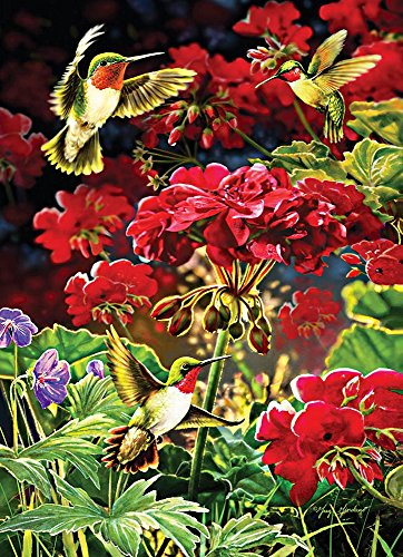 Cobble Hill Ruby Geraniums Jigsaw Puzzle, 1000-Piece