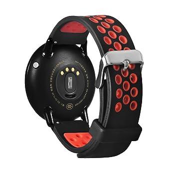 Correa de repuesto para reloj inteligente Xiaomi Huami Amazfit A1602, Y56, 21 cm, liviana, de silicona, rojo: Amazon.es: Deportes y aire libre