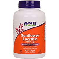 Now Foods Sunflower Lecithin, 1200mg, Softgels, 100ct