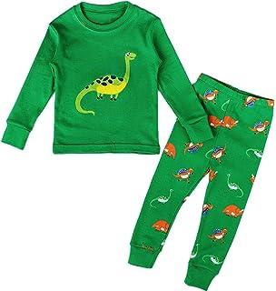 Blcswan Dinosaur Little Boys 2 Piece Pajama 100% Cotton(Size 12M-7Years