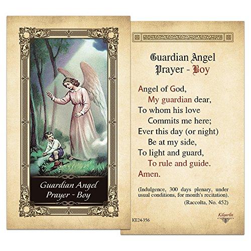 Guardian Angel Prayer - Boy Laminated Holy Card - Pack of 25