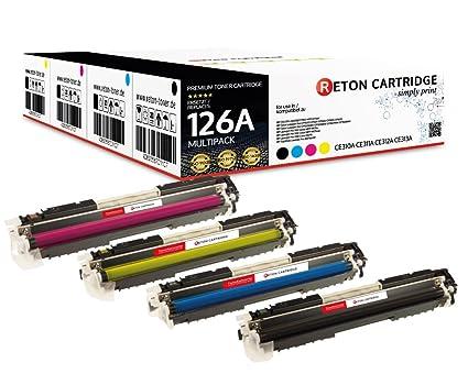 Original reton Toner, compatible, Set 4 Color Para HP Pro M175 MFP ...