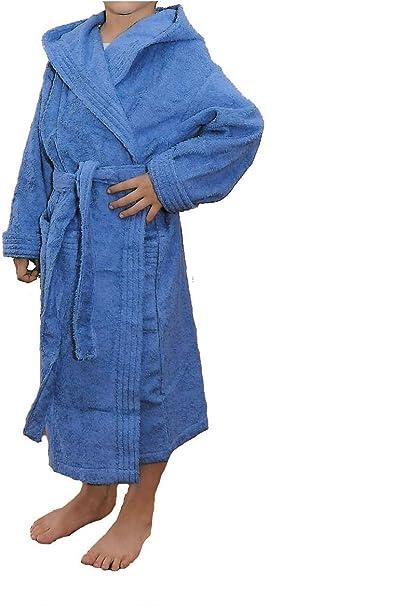 Albornoz Infantil, Rizo, 100% algodón, azulón. (12): Amazon.es: Hogar