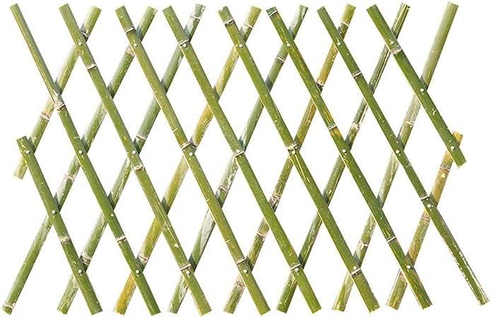EVERAIE - Valla telescópica de bambú para jardín, Valla de bambú para Exteriores, Valla de jardín, Valla de bambú, Madera, Verde, 80x180cm: Amazon.es: Hogar
