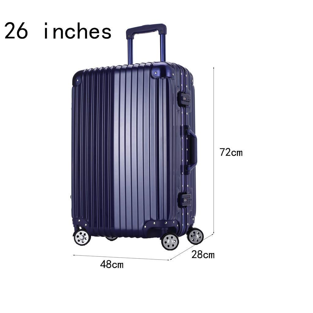 3 C Aluminum Alloy Lever Wire Drawing Process Suitable For Travel And Short-distance Business Travel TSA Combination Lock Mei Xu Luggage Sets Trolley Case Aluminum Frame Silent Universal Wheel