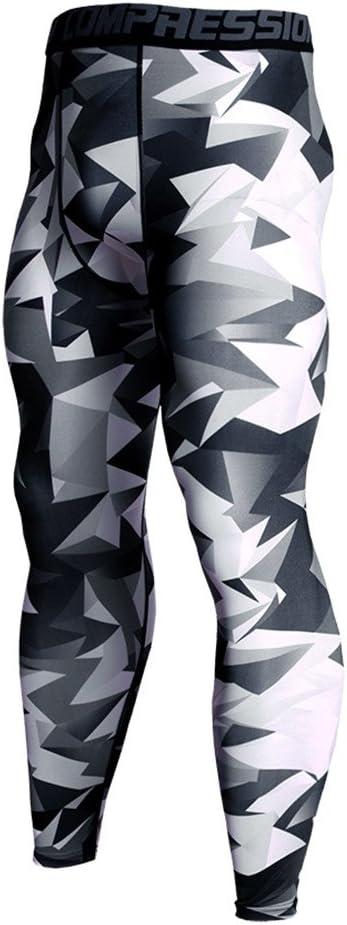 Celucke Sport Leggings Herren Laufhose Strumpfhose Camouflage Compression Tights Funktionsw/äsche Quick Dry Kompression Hose f/ür Fitness Gym Joggen