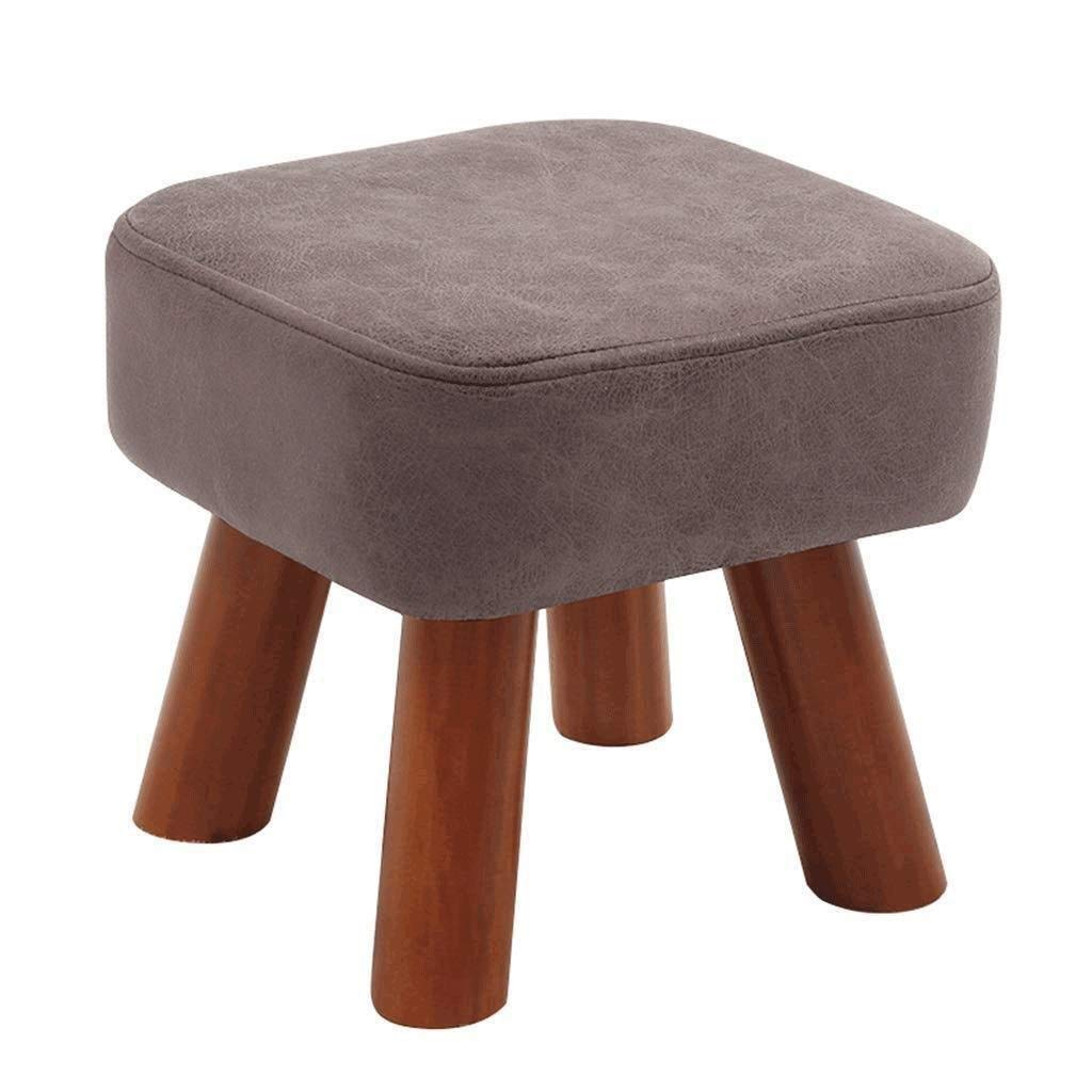 RDMZ Change Shoe Bench Stool Solid Wood Square Stool Highly Elastic Sponge Filling Home Low Stool (Color : B)