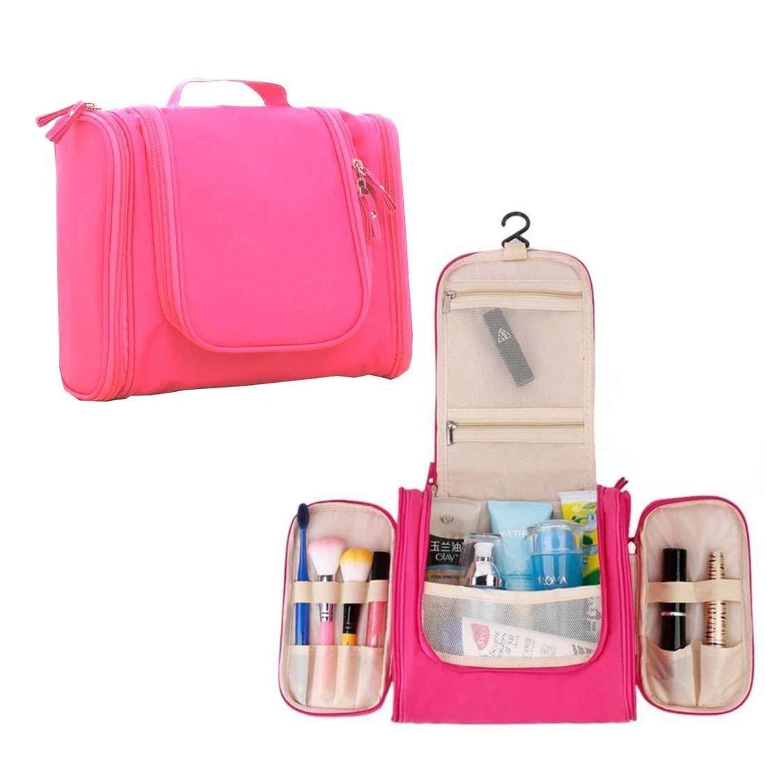fb1354d2b9c2 PACKNBUY Cosmetic Toiletry Bag Travel Makeup Organizer Pink