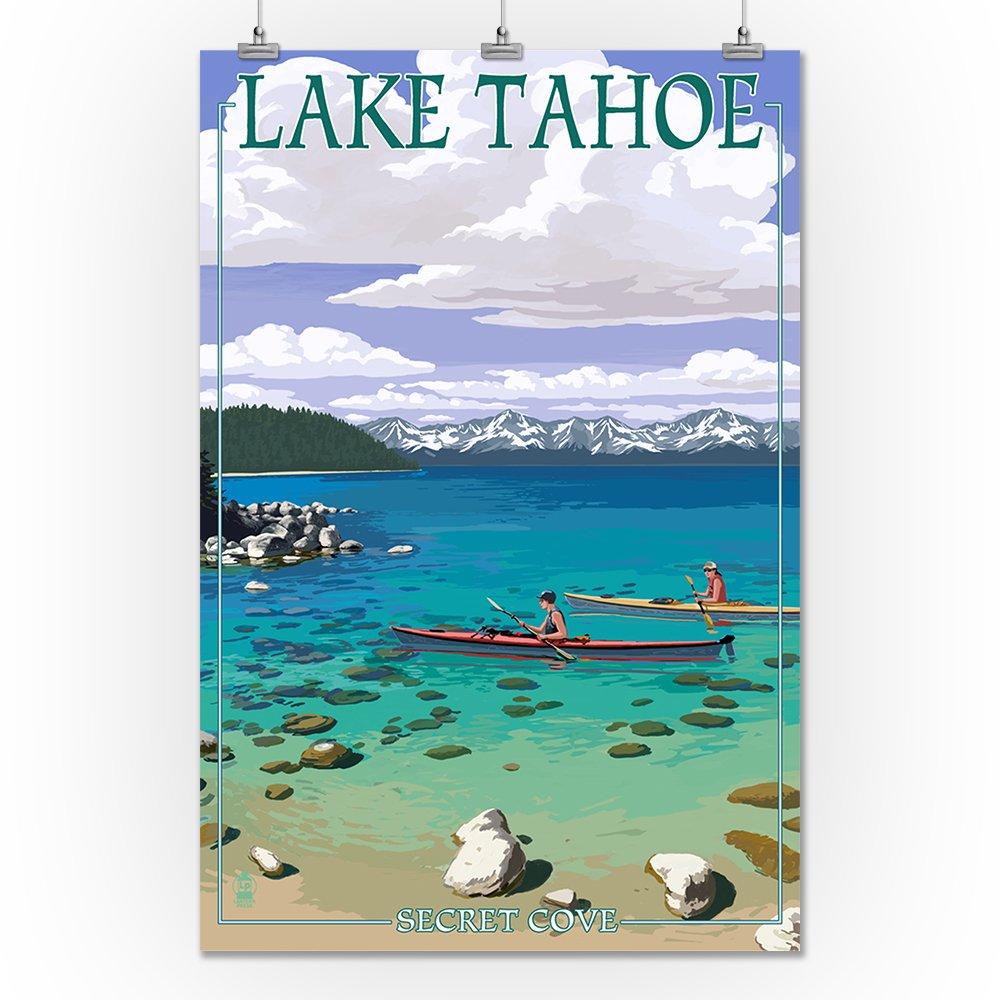 LAKE TAHOE SIERRA NEVADA BEACHES BOATING HIKING USA TRAVEL VINTAGE POSTER REPRO
