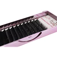 Volume Faux Mink Eyelash Extensions 0.15mm Thickness B Curl 8-14mm Mixed Individual Light Natural Lash Extensions Soft Application for Professional Salon Use (PBT 0.15-B-mix)