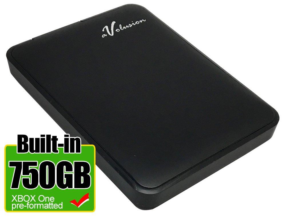 Avolusion 750GB USB 3.0 Portable External XBOX One Hard Drive (XBOX One Pre-Formatted) HD250U3-Z1 - w/2 Year Warranty