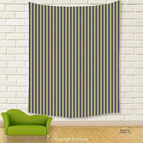 Vipsung House Decor Tapestry_Pop Art Decor By Vintage Retro 50S 60S Style Bold Stripes Rooms Wallpaper Image Royal Blue And Lime Green_Wall Hanging For Bedroom Living Room Dorm (Morris Blush)