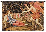 Love and the Maiden Stanhope Belgian Tapestry Wall Hanging