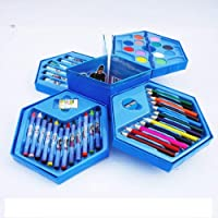 BabyBaba Free Small Drawing Book with Colors Box Color Pencil ,Crayons, Water Color, Sketch Pens Set of 46 Pieces (Random)