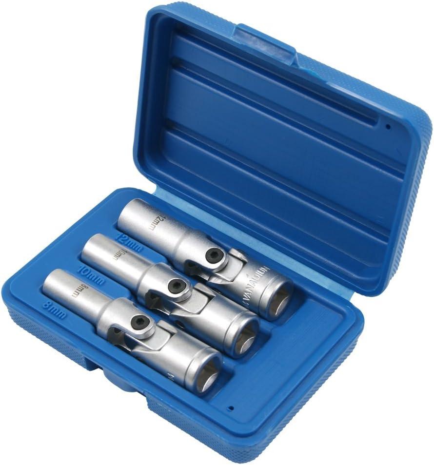 Glühkerzen Spezial Gelenkeinsätze Stecknuss Chrom Vanadium Stahl 8 12 Mm 3 8 Antrieb 3 Tlg Motor Instandsetzung Werkzeug Baumarkt