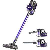 Devanti 150W Cordless Stick Vacuum Cleaner Handheld Bagless Vac 2-Speed Recharge Purple & Grey