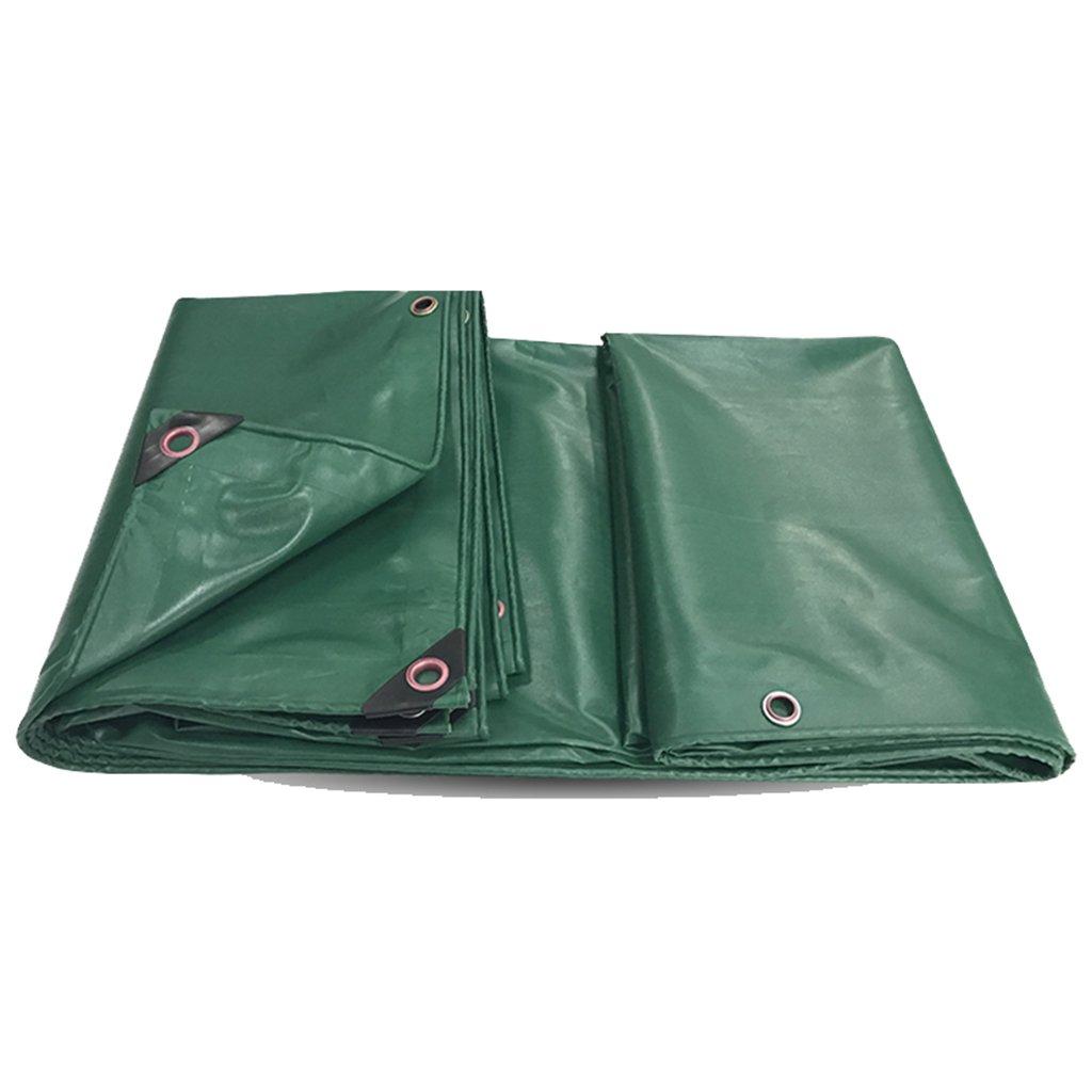 タープ テント PVCレインクロスサンプロテクションターポリン防水キャノピークロストラックキャンバス防水プラスチッククロスオイルクロスアンチエイジングコーティングレイヤー強力なポリエステルキャンバス (Color : Green, Size : 5*5 m/197*197 inch) 5*5 m/197*197 inch Green B07KS991VS