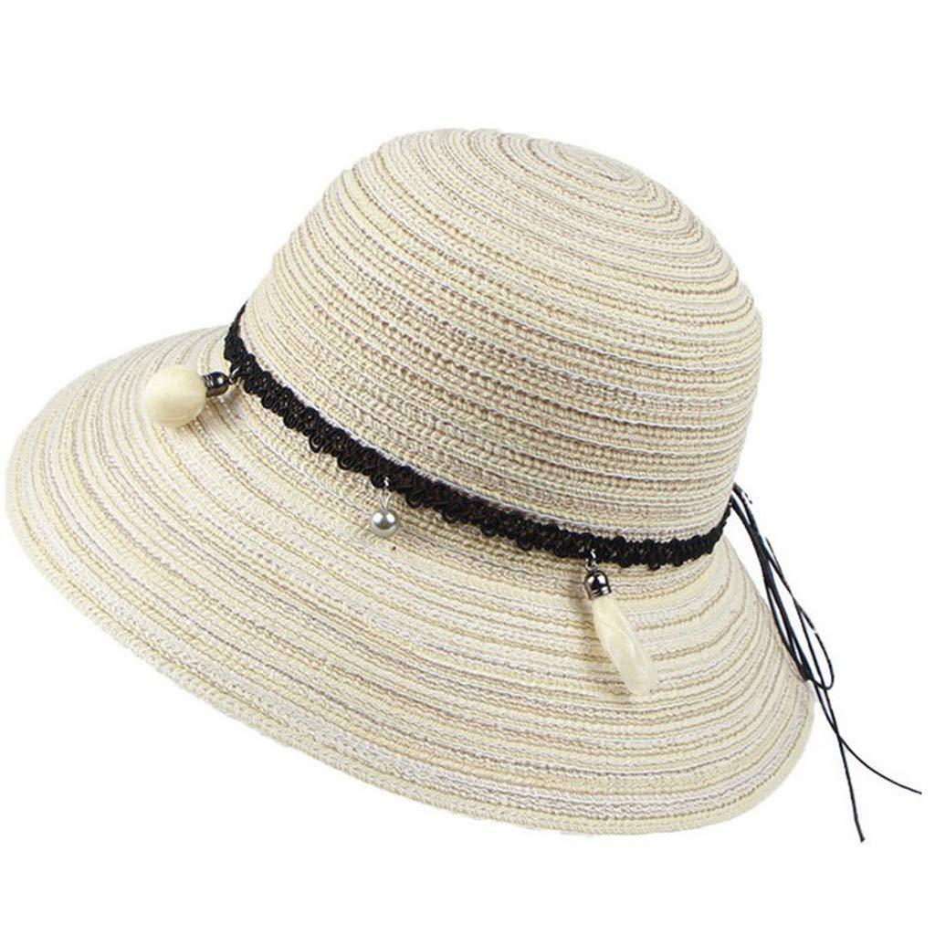 Sombrero de Verano para Mujer Anti el Sol, Gorra de Playa Plegable ...