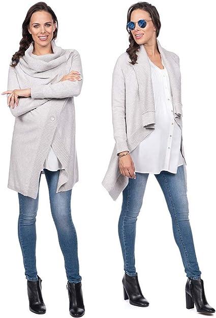 Seraphine Women S Maternity Nursing Cardigan Cloud Grey At Amazon Women S Clothing Store