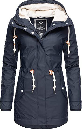 Ragwear Damen Outdoor Jacke Regenparka Monadis Rainy Black Label 7 Farben XS XXL
