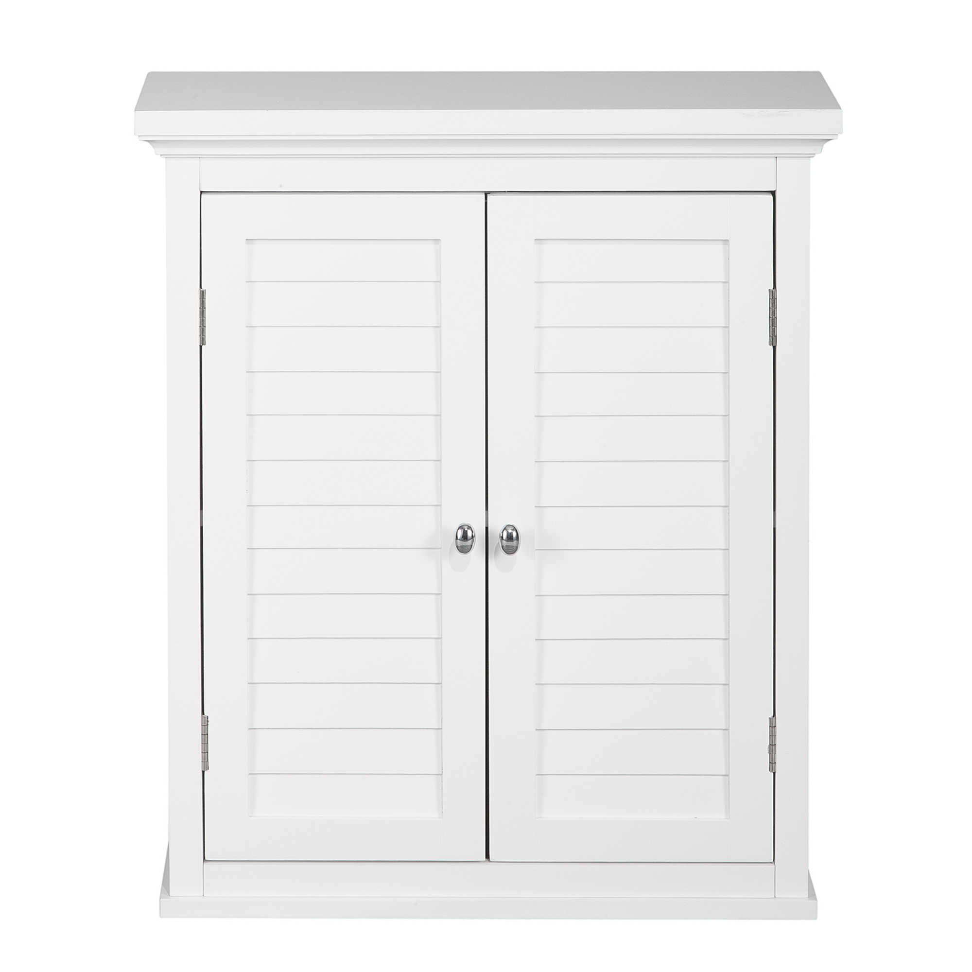 Elegant Home Fashions Neal Collection, Styling and Functionality Wall Cabinet, White