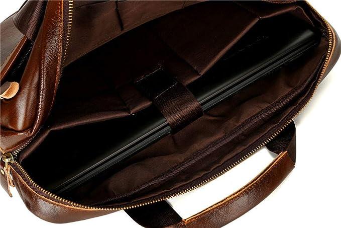 31dfbc49fd AIMEE7 Sacoche Homme Bandouliere Sac a Main Bandouliere en Cuir Sac à bandoulière  d'affaires Porte Document Portable Cartable Hommes Loisir Sacs(Marron): ...