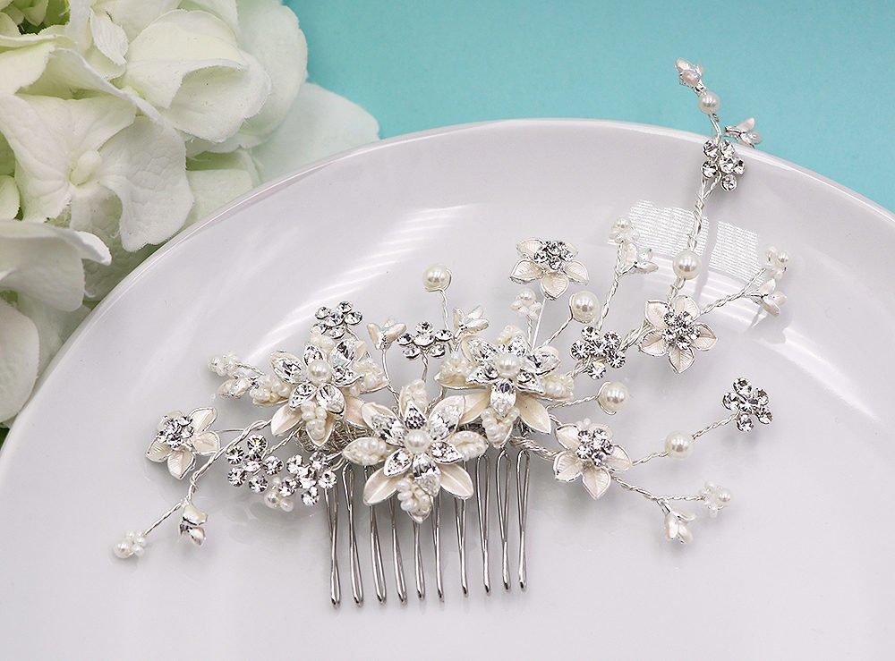 Miranda Swarovski Crystal Wedding Comb
