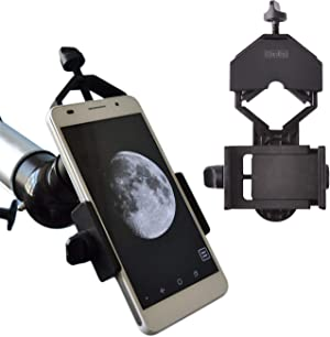 Gosky Universal Cell Phone Adapter Mount - Compatible Binocular Monocular Spotting Scope Telescope Microscope-Fits almost all Smartphone on the Market -Record The Nature The World