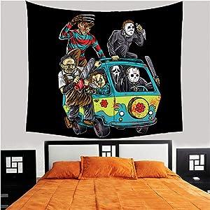 hjtktt Home Decor Wall Hanging Tapestry Horror Movie Friday Tapestry Blanket Tablecloth Bohemian Art Deco Mandala Tapestry Picnic200×150Cm
