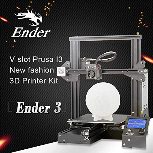New !!! Creality Ender-3 3D Printer V-slot Prusa I3 New Fashion 3D Printer Kit with Sample CCTREE PLA Filament + 8 /GB SD Card Reader +Tool kits + Hotbed + Factory Original Supply and Canadian after-sale service (220*220*250mm) First Launch in Canada