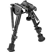 """Clamp-on Barrel-Mount Adjustabl Bipod 8-10/"""" Spring Return Rest Fit For Rifle Gun"""
