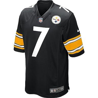 b686f214b38 Nike NFL Pittsburgh Steelers American Football Game Jersey Shirt in Black  (Small)