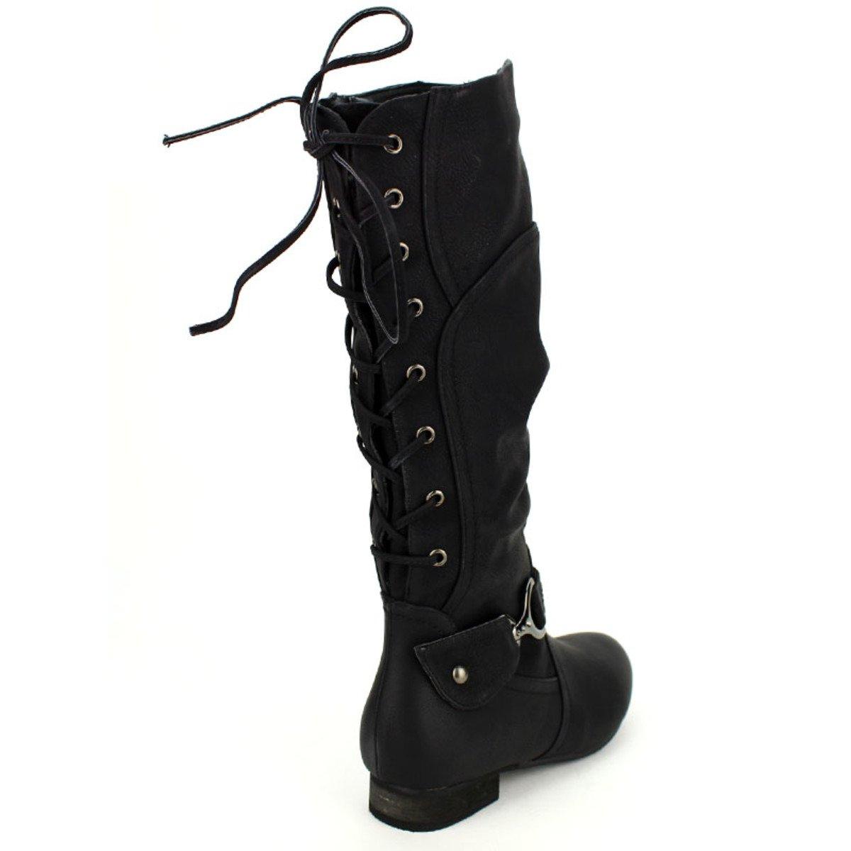 c42c766d21eb Noire Botte Simili Cendriyon Peau Femme Libra Taille Pop Chaussures  CSPPFwqnx5