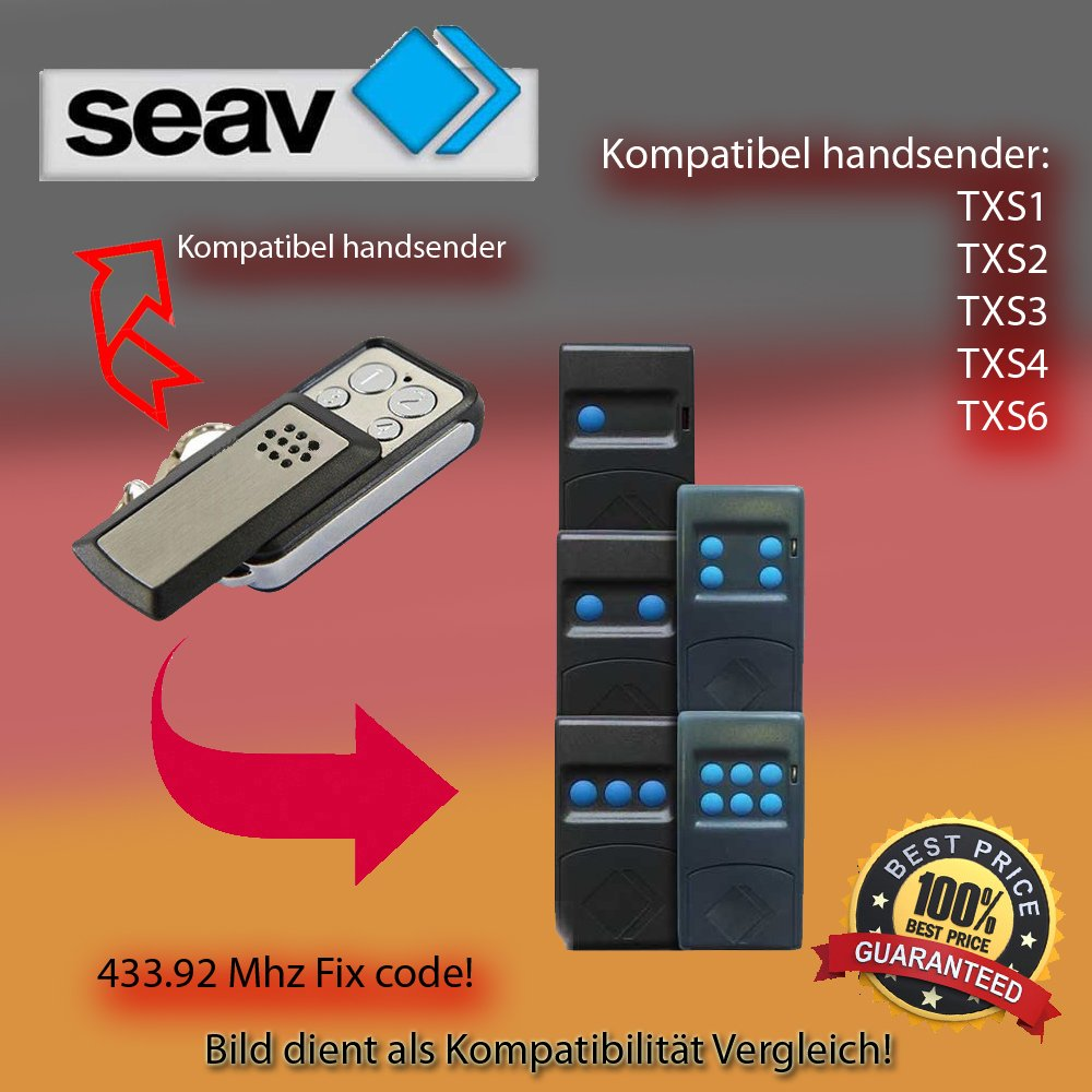 SEAV BE HAPPY S2 klone Kompatibel mit model SEAV BE HAPPY S1 SEAV BE HAPPY S3 Handsender ersatz