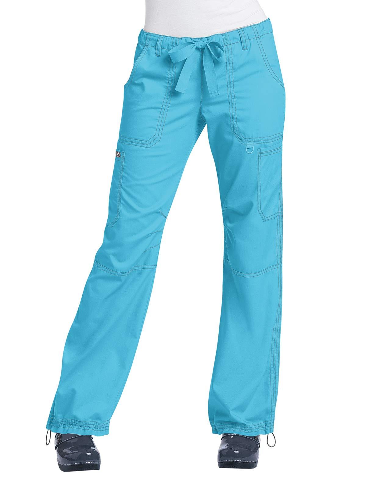 KOI Classics 701 Women's Lindsey Scrub Pant Electric Blue 3X Petite