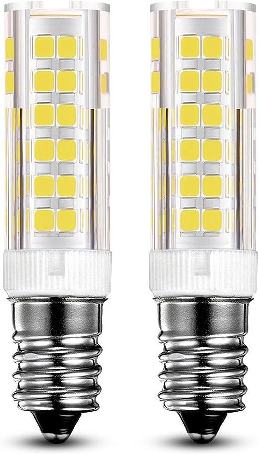KINDEEP E14 bombilla LED - 7W/550LM, rosca Edison pequeña (SES), equivalente a bombilla halógena de 60W, Blanco frío 6000K, Pack de 2: Amazon.es: Hogar