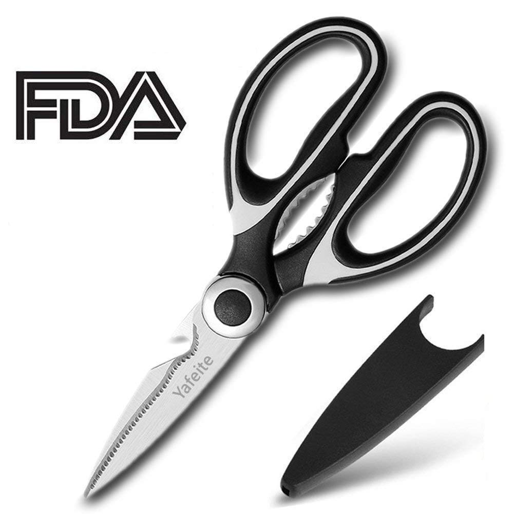 Kitchen Shears,Multifunctional Heavy Duty Kitchen Scissors - Ultra Sharp Stainless Steel Shears for Chicken, Poultry, Fish, Vegetables and BBQ