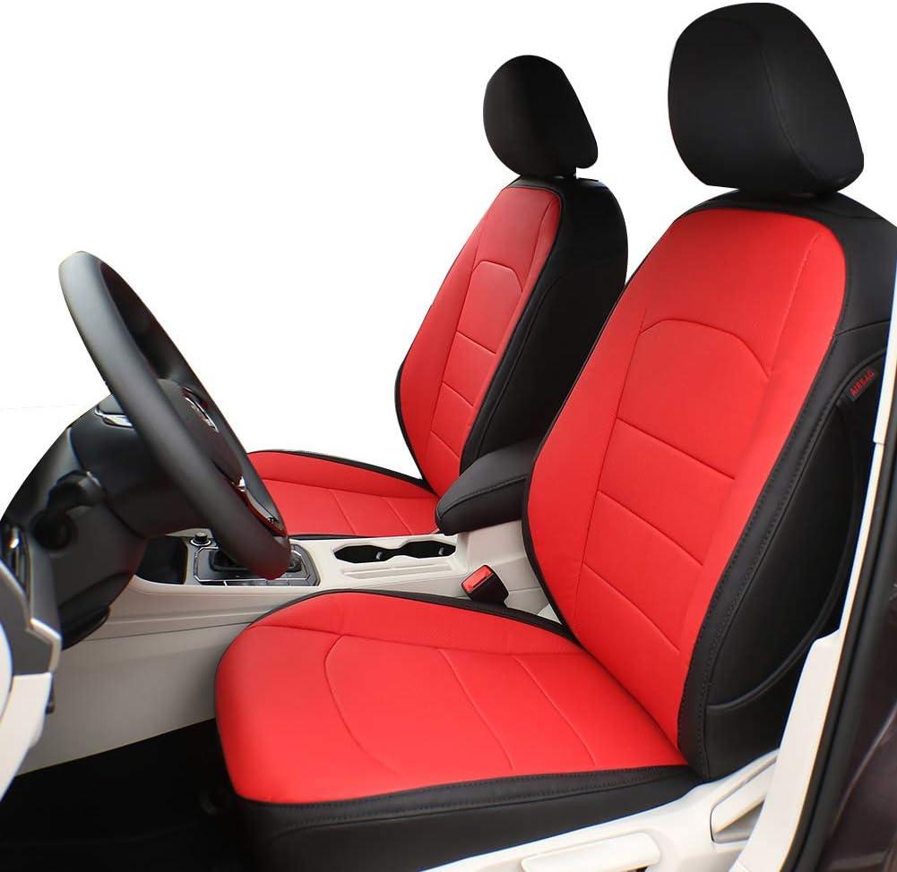 EKR Custom Fit Full Set Car Seat Covers for Select Subaru Forester 2019 2020 2021 Leatherette Black