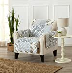 Great Bay Home Patchwork Scalloped Stain Resistant Printed Furniture Protector. By Brand.