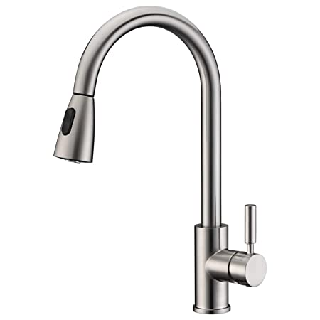 Lazada Commercial Single Handle High Arch Brushed Nickel Kitchen